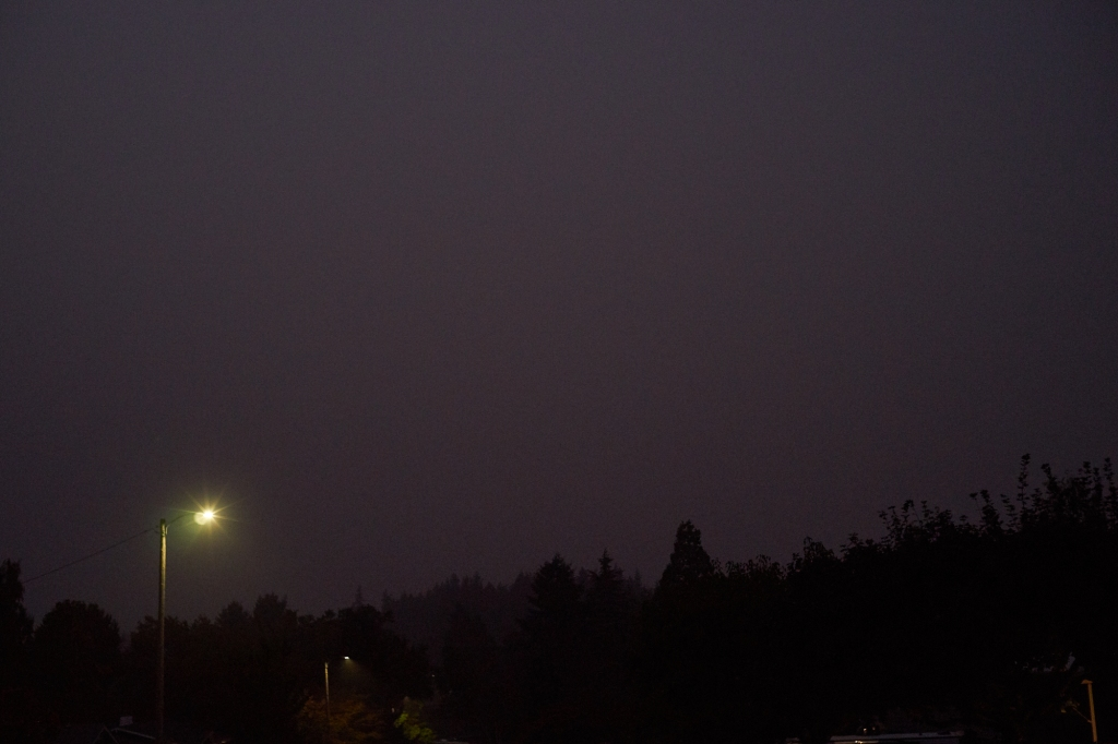 Photographs from a smoky evening in Salem, Oregon